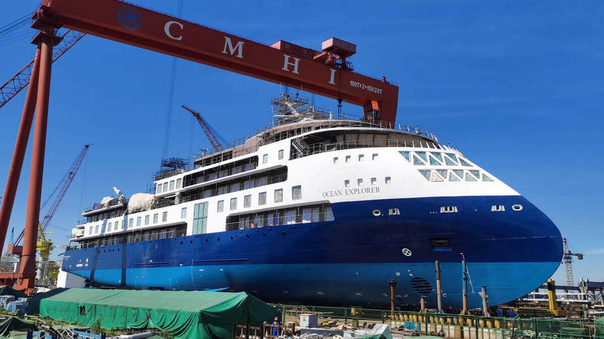 Ocean Explorer completed successful sea trials just prior to the Chinese New Year (Image: SunStone Ships)