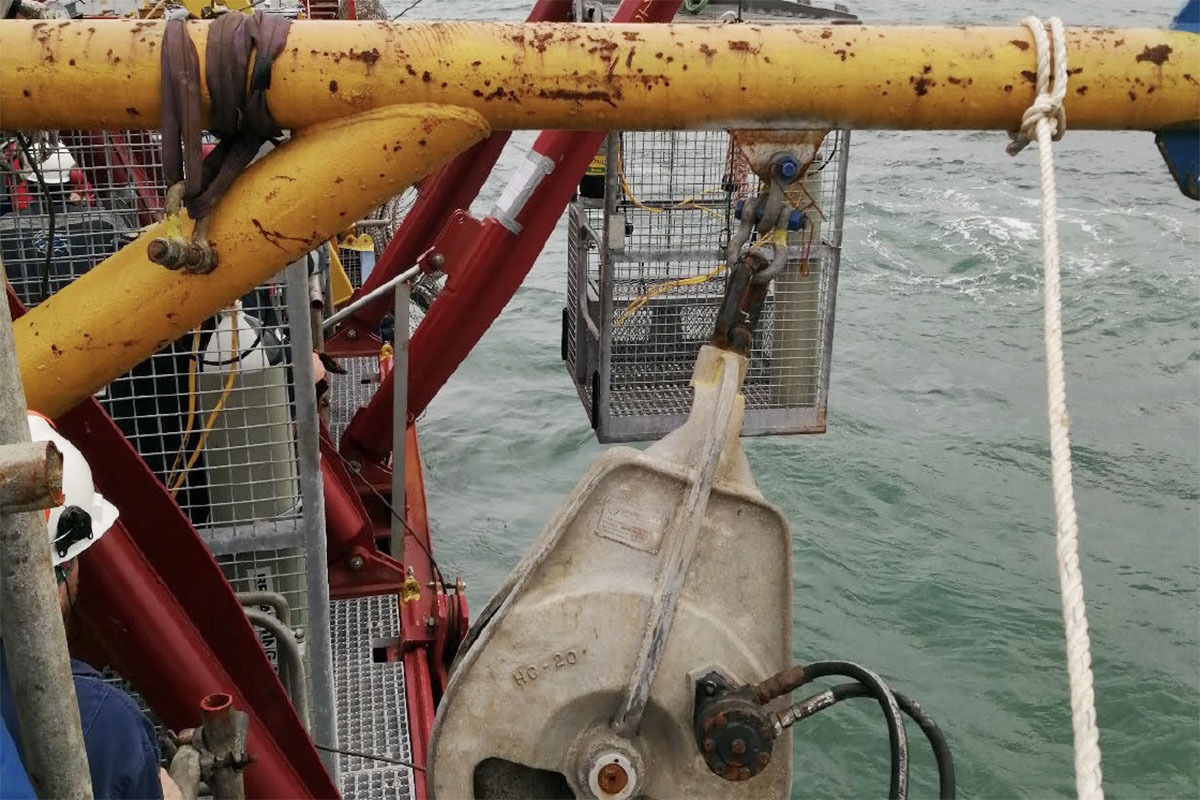 Motorised umbilical pulleys (MUP) for Africa diving services (ADS)