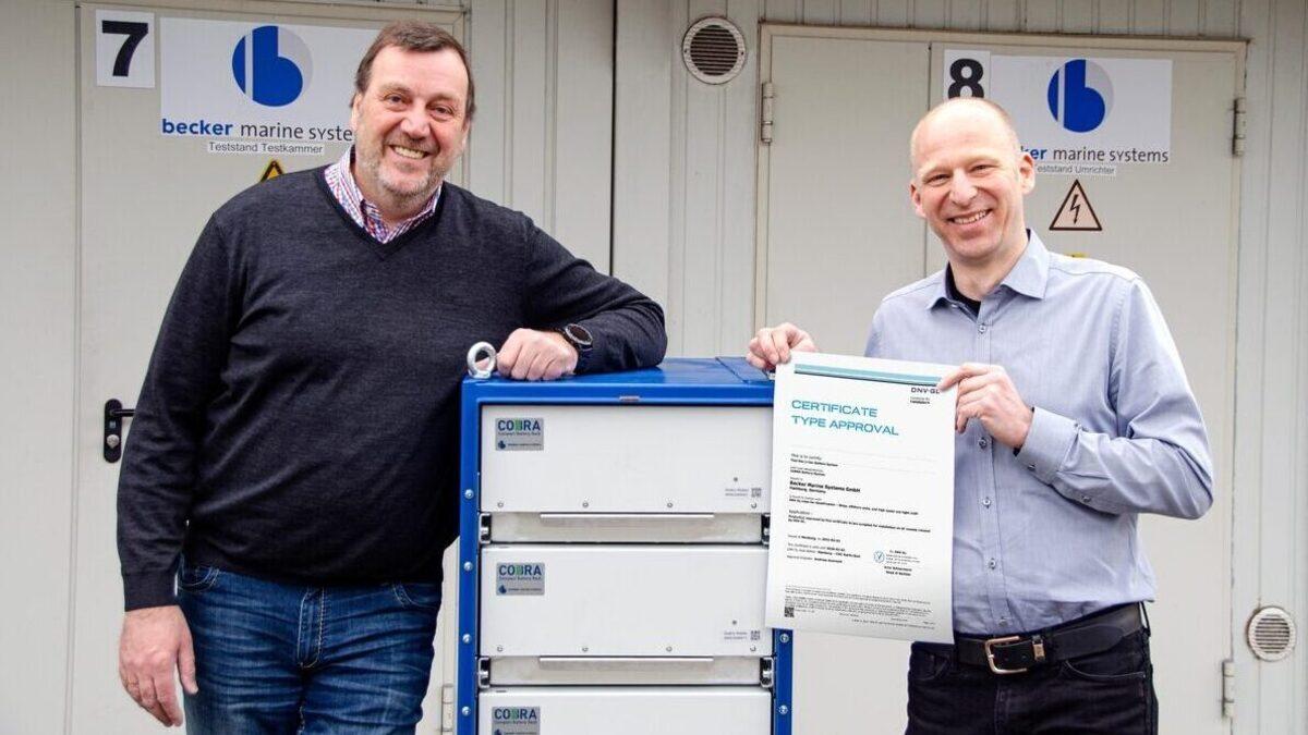 Dirk Lehmann (L) and Godehard Gauf (R) of Becker Marine Systems (Image: Becker Marine Systems)