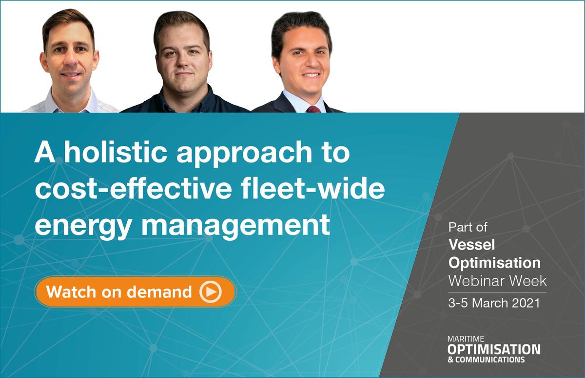 A holistic approach to vessel optimisation webinar panel