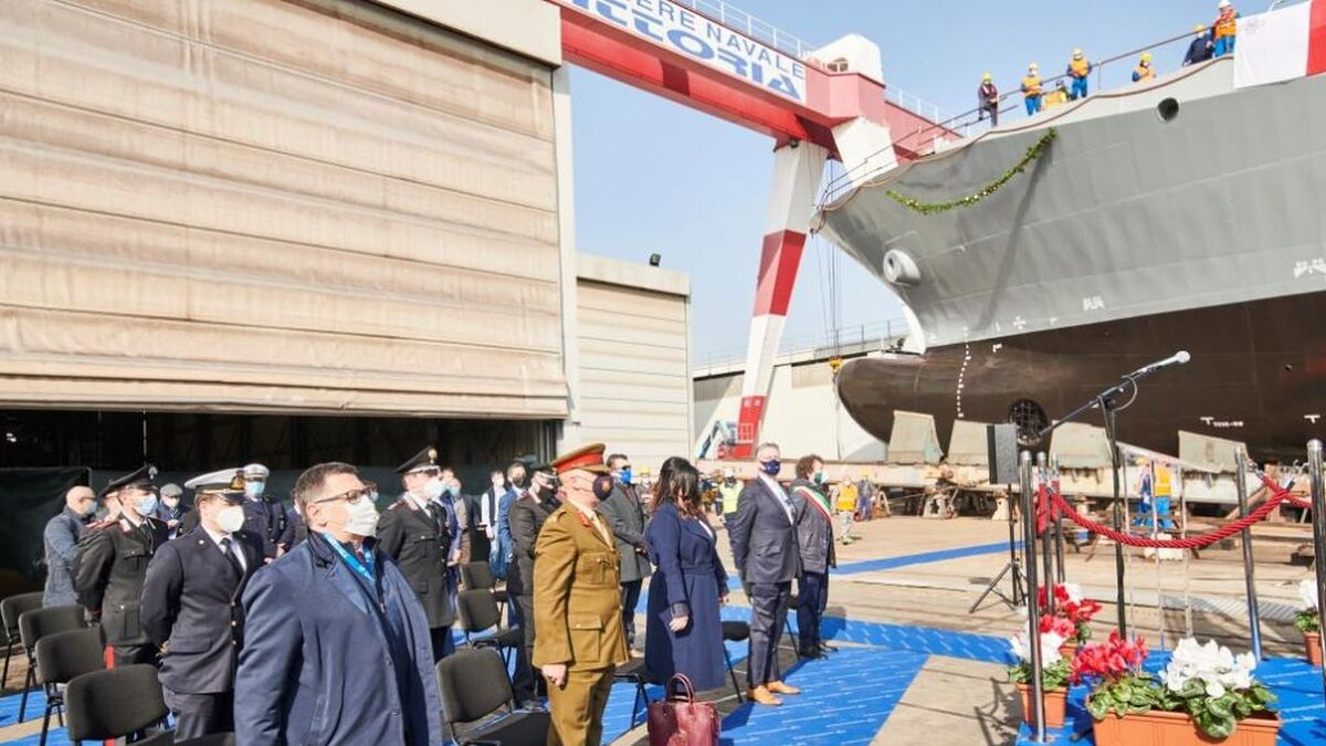 Delivery ceremony for Malta's hybrid OPV 71 at Vittoria Shipyard (source: Vittoria)