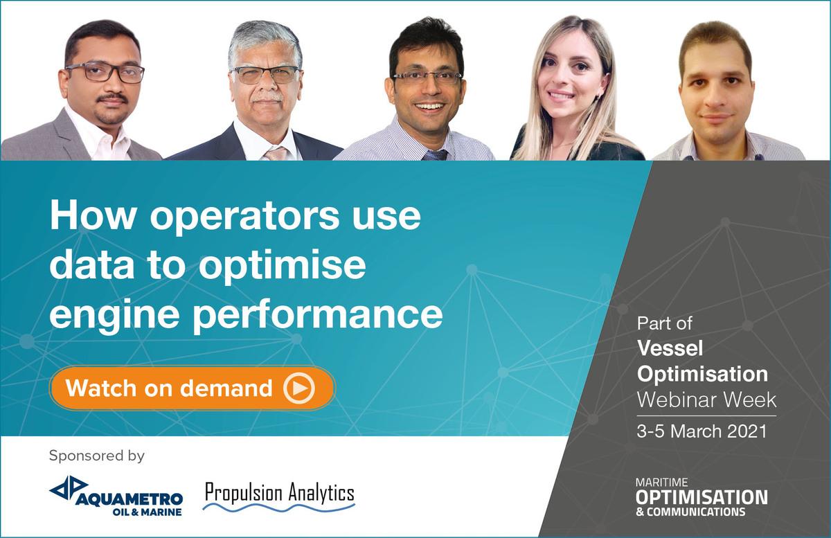 How operators use data to optimise engine performance webinar panel