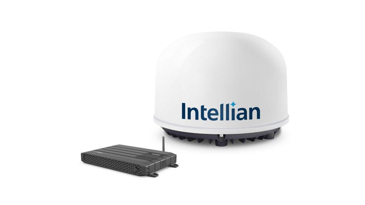 Intellian C700 terminal antenna and BDU with wifi
