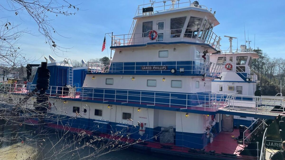 Jared Phillips towboat was built by FMT Shipyard for Parker (source: Parker)