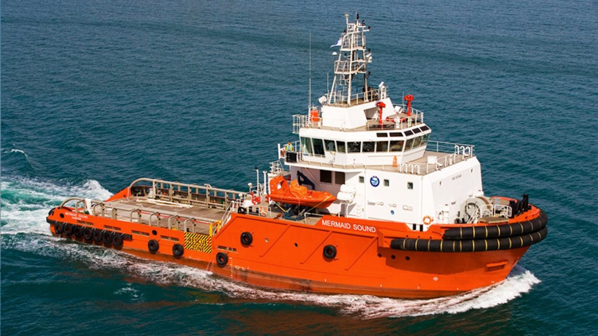 The Australia-flagged, 70-tonne bollard pull anchor handling tug Mermaid Sound (source: MMA Offshore)