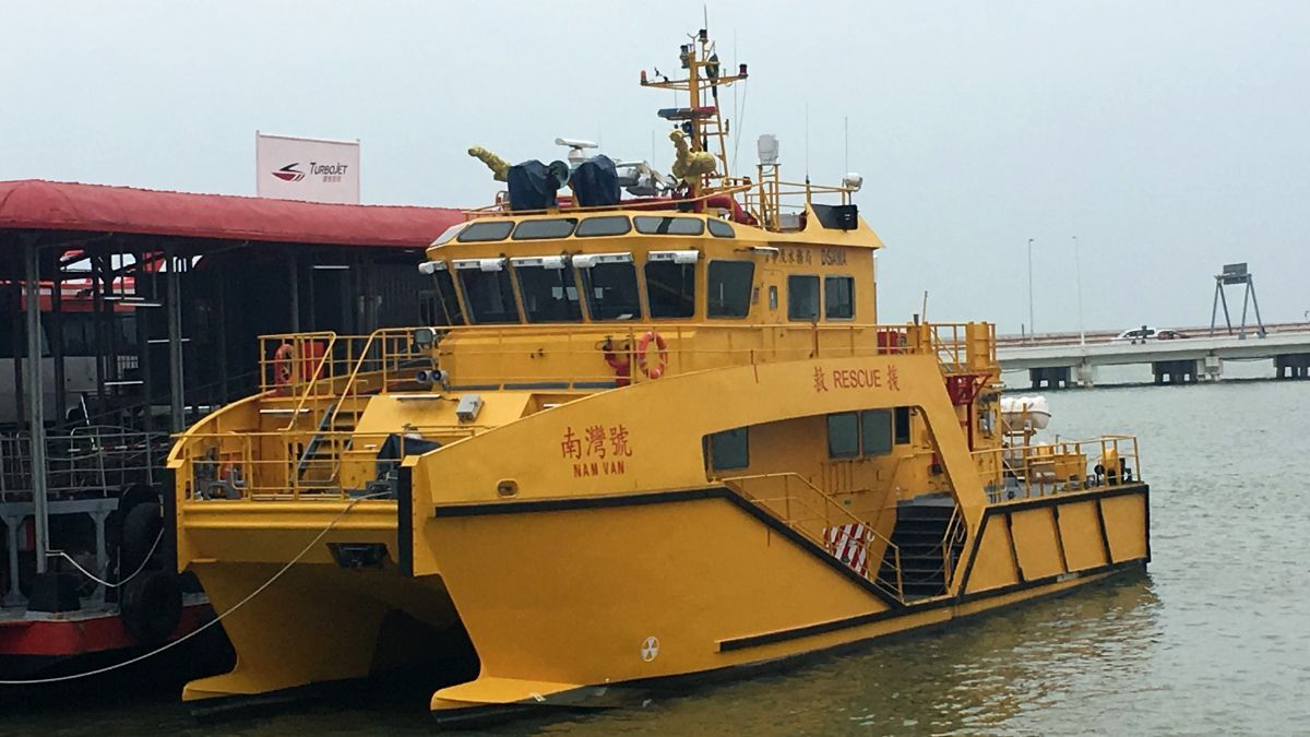 Rescue and security boat Nam Van was built with E-Pod Propulsion's 50-kW vertical retractable thruster and a 22-kW tunnel thruster (source: E-Pod Propulsion)