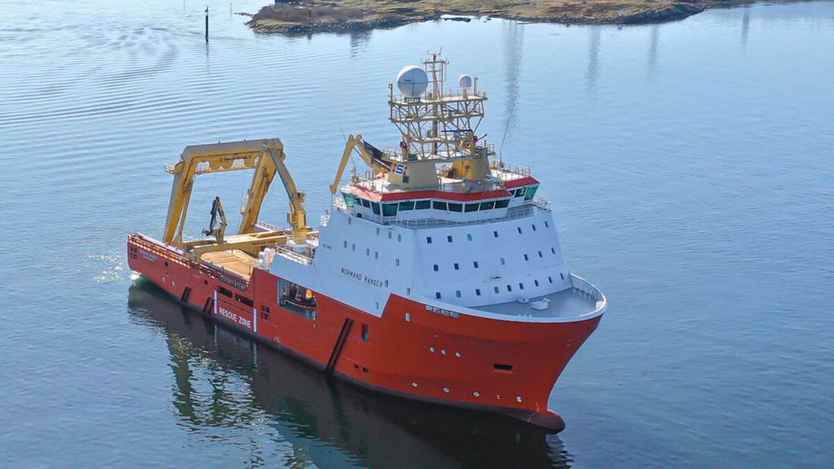 Solstad vessels similar to the PSV pictured will work with Equinor, Total and Serica Energy in the UK North Sea (image: Solstad)