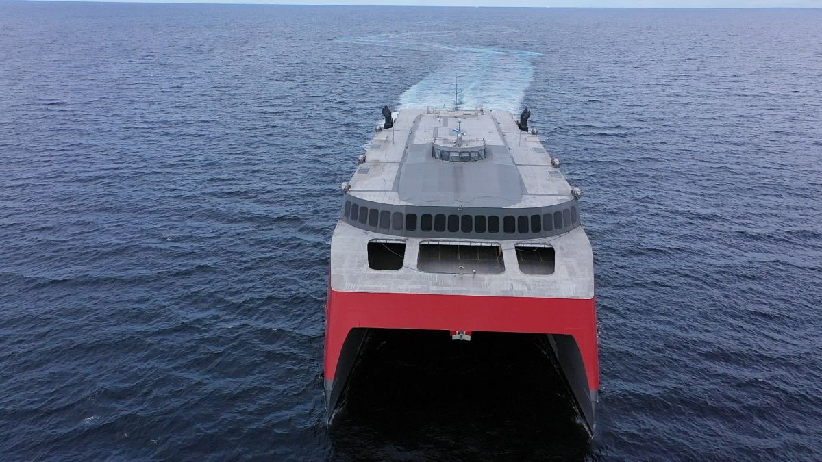 Fjord Line's FSTR is a 109-m high-speed vehicle-passenger ferry, designed by Austal Australia and constructed by Austal Philippines (Image: Austal Philippines)