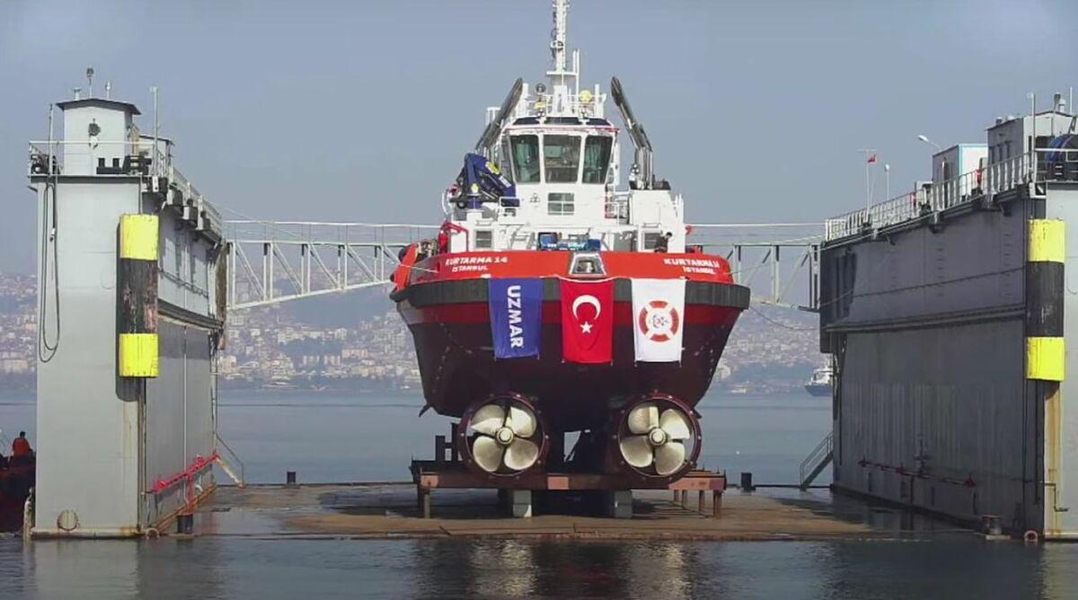Uzmar launches emergency tug Kurtarma 14 in Turkey