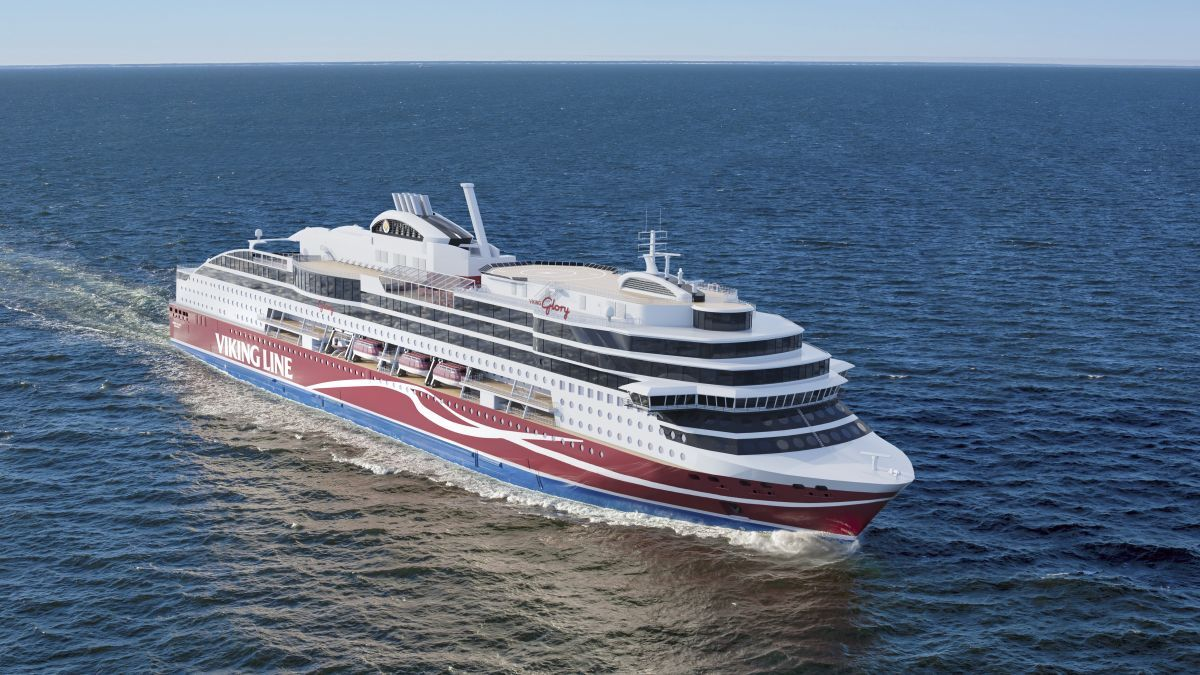 Norsafe, acquired by Viking, entered the cruise and ferry market with an order for Viking Line's newbuild ferry (source: Viking Line)