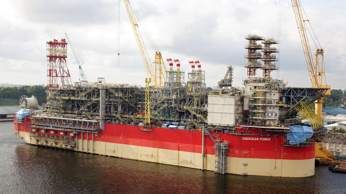 The newbuild FPSO Energean Power is under construction at Sembcorp Marine in Singapore (source: Energean)