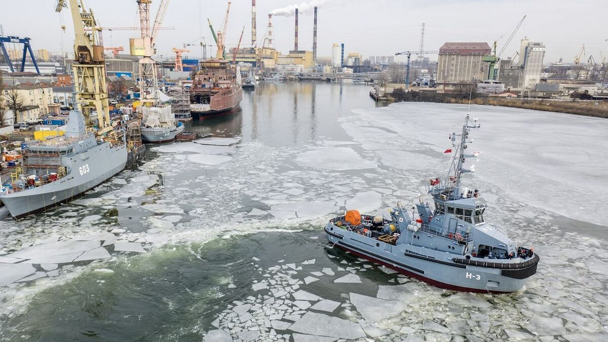 H-3 Leszko tug was delivered to the Polish Navy in February 2021 (source: Remontowa)