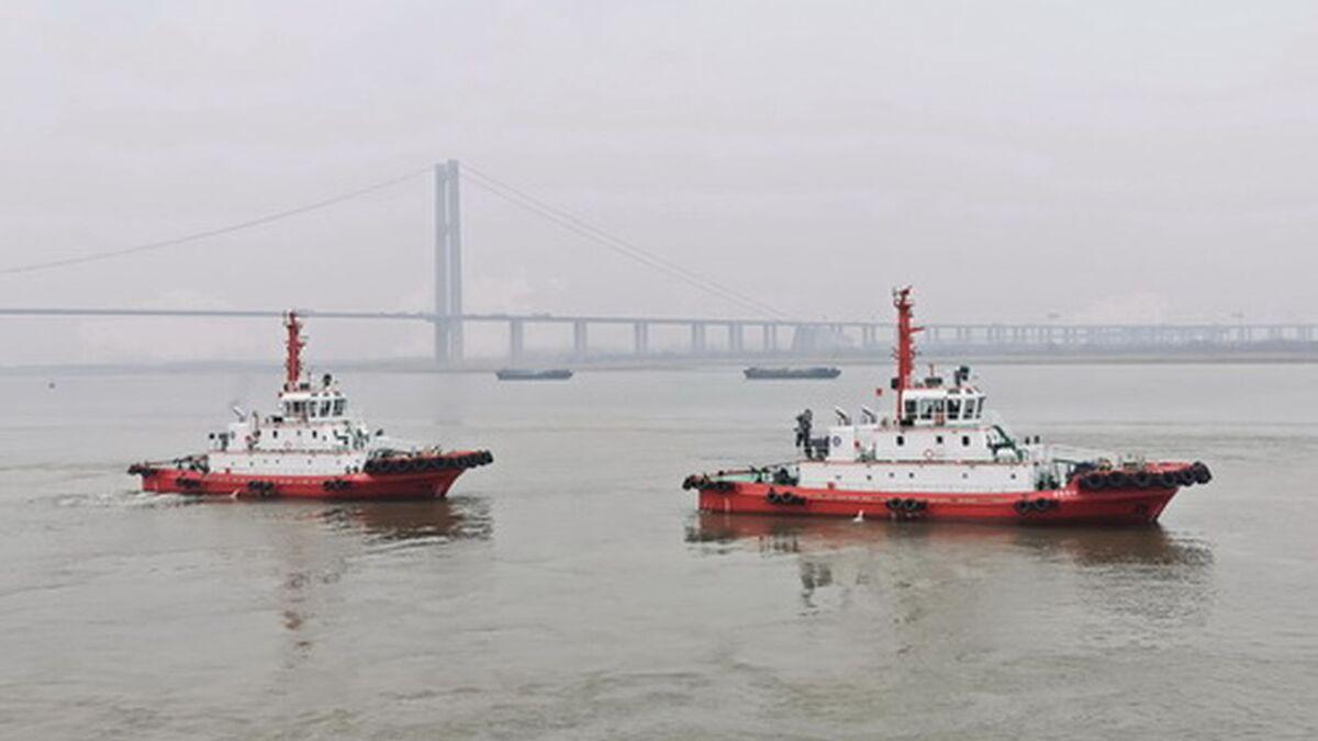 Jiangsu Zhenjiang Shipyard delivered two ASD tugs on 5 March (source: JZ Shipyard)
