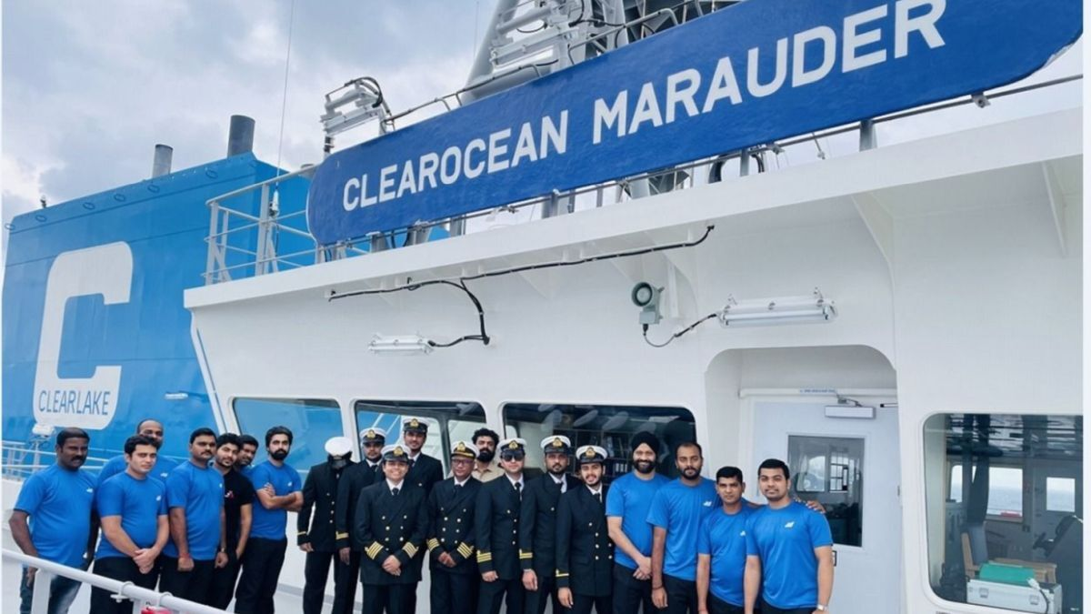 Built by Samsung Heavy Industries, Clearocean Marauder was delivered into MTM Ship Management in February 2021 (source: MTM)