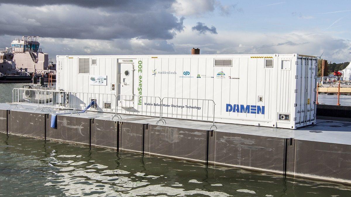 Damen Invasave is an alternative to vessel-based ballast water treatment (source: Damen)