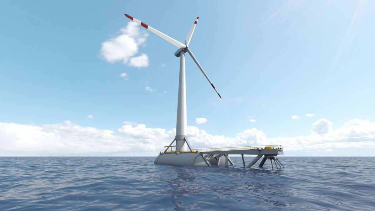 RWE has experience from a number of floating wind projects, including the DemoSATH concept, shown here