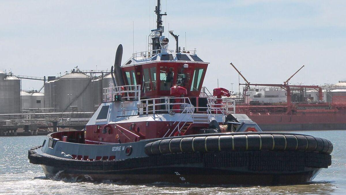 George M escort tug was built for Bay Houston by Gulf Island (source: Robert Allan)