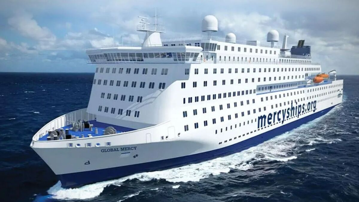 Global Mercy will have SES Networks HTS satcoms (source: Mercy Ships)