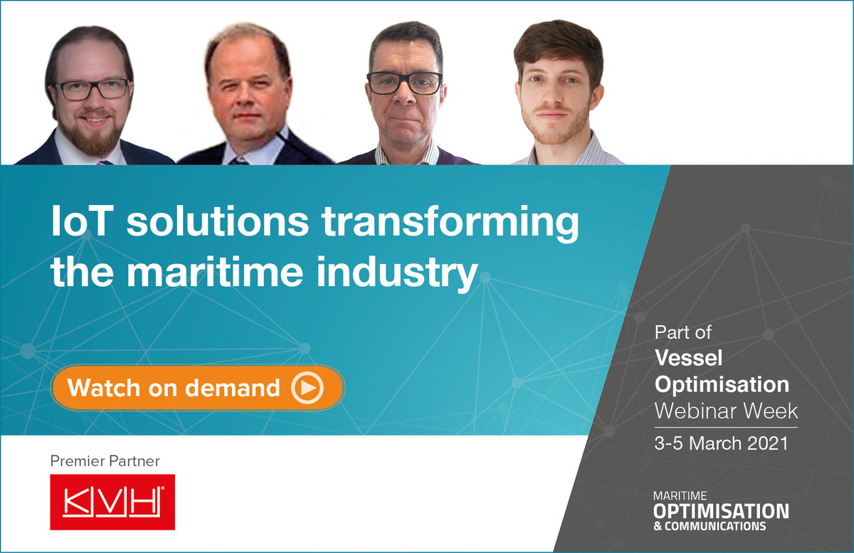 IoT solutions transforming the maritime Industry webinar panel