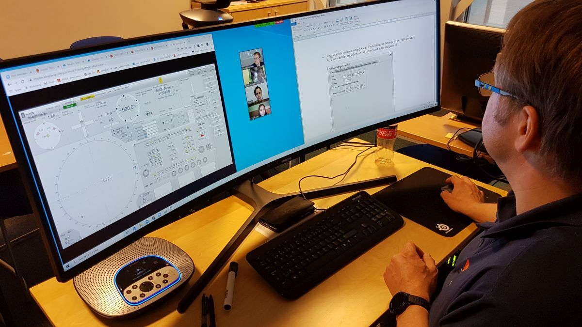 Seafarers improve DP skills with Kongsberg's remote induction course (source: Kongsberg)