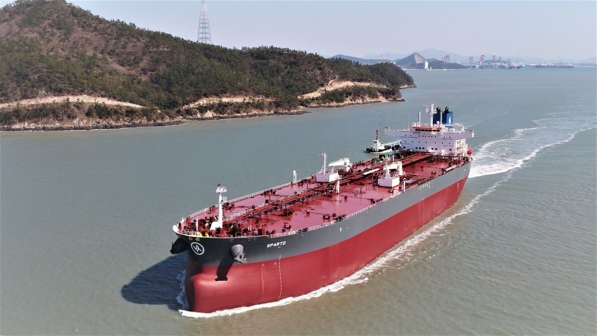 Enesel has placed an order for more Daehan-built LR2 tankers like Sparto (source: Enesel)