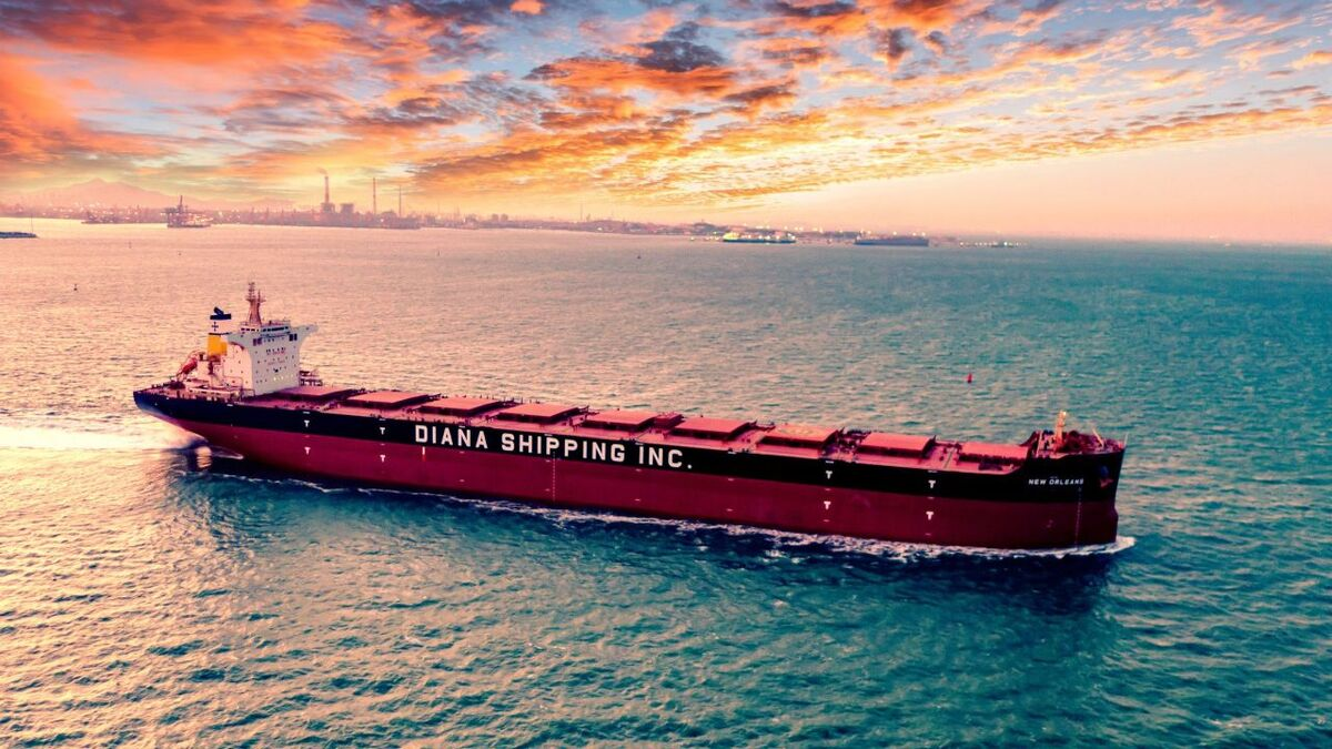 Emissions on New Orleans bulk carrier will be monitored by ABS app (source: Diana)