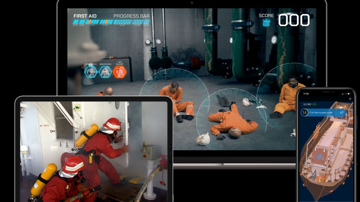 OTG's fire-fighting and emergency response training on learning platform (source: OTG)