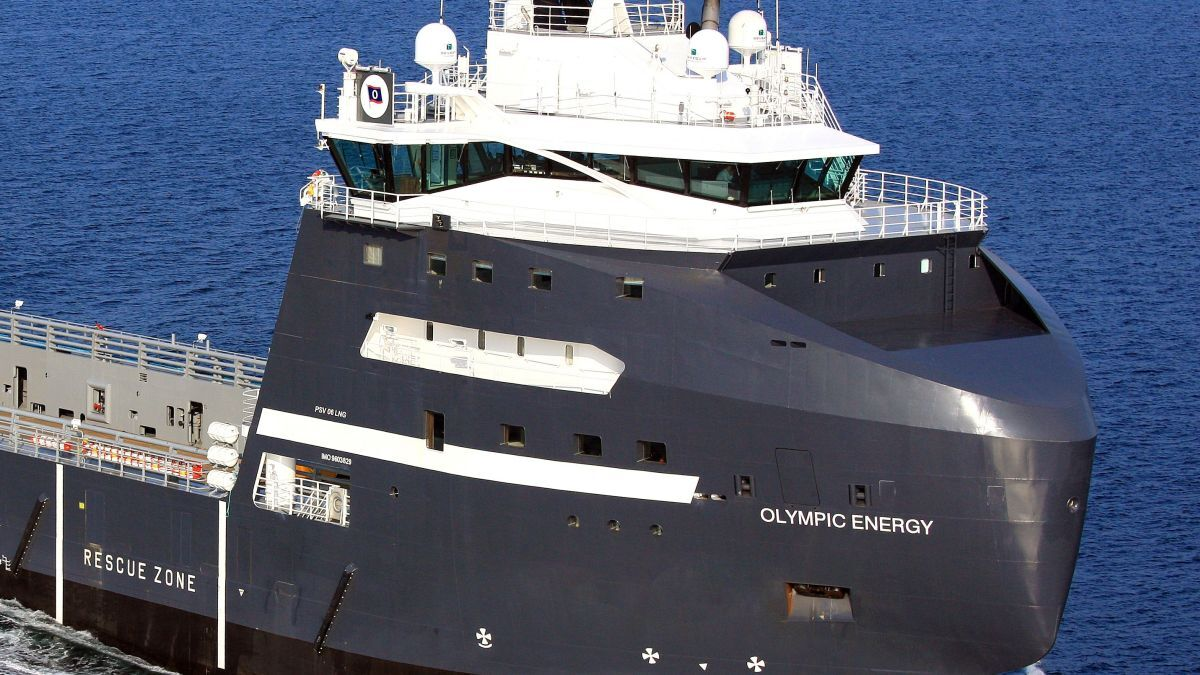 Olympic Energy was 'hybridised' in 2016 and is currently supporting Rowan Viking (source: Vard)