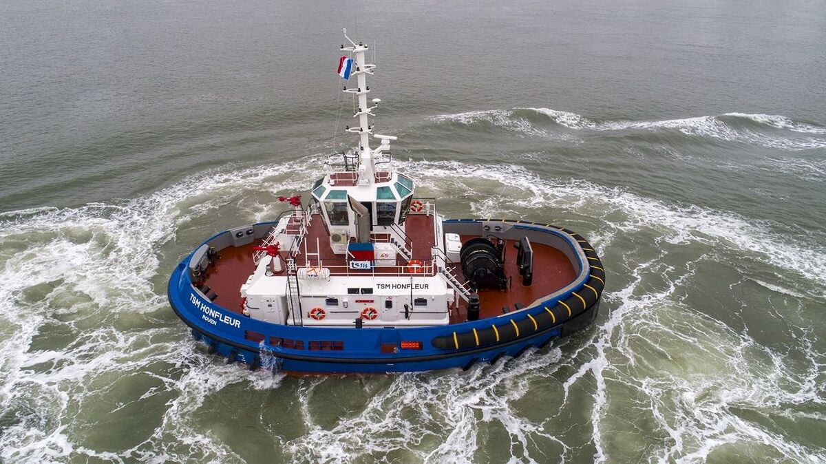 RSD Tug 2513 TSM Honfleur will support bulk carriers in Port of Rouen (source: Damen)