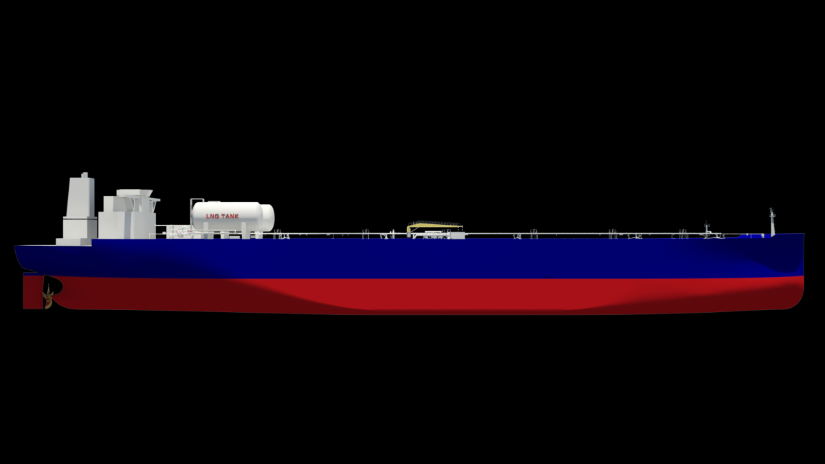 Render of dual-fuel tanker: the energy major is committed to LNG as a marine fuel (source: Shell)