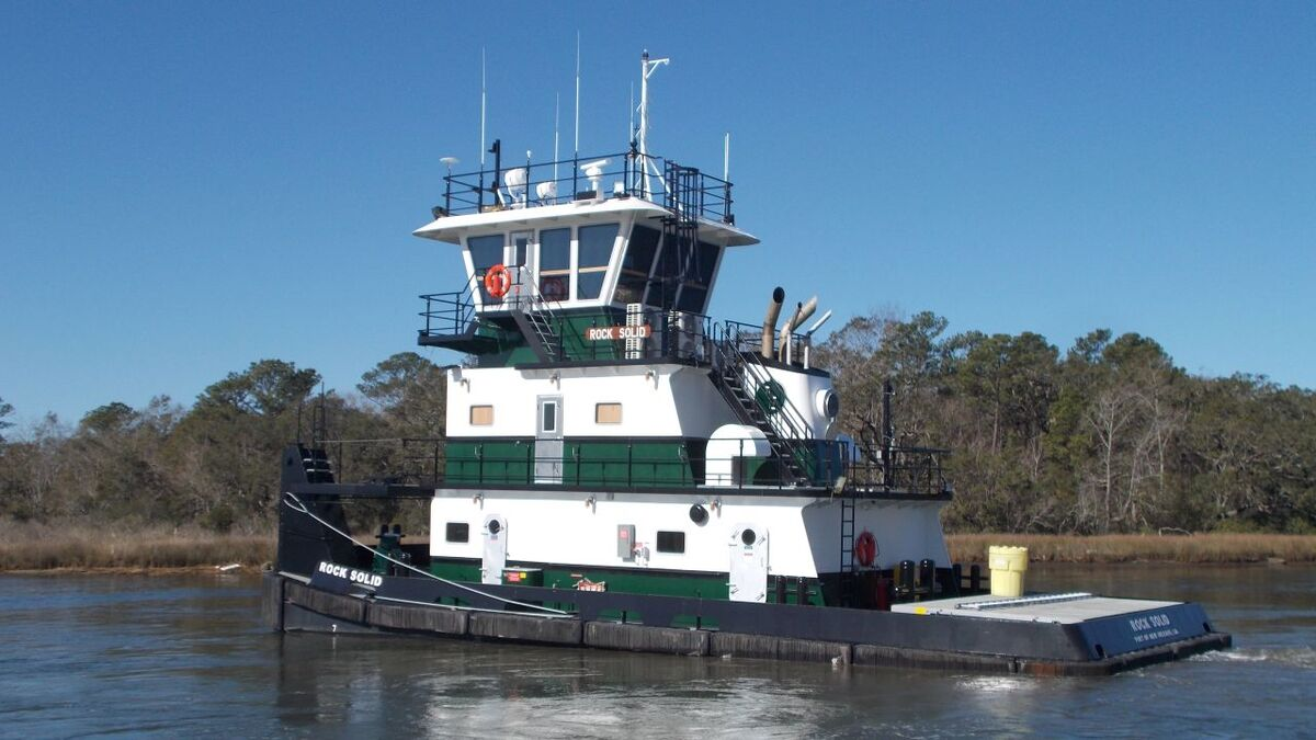 Rock Solid was built by Master Marine for Mississippi River operations (source: Plimsoll Marine)