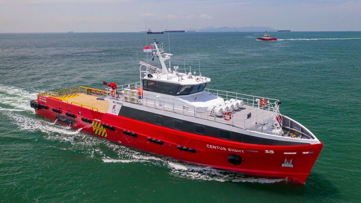 40-m fast crew boat Centus Eight will be deployed to the Malaysian oil and gas market (source: Strategic Marine)