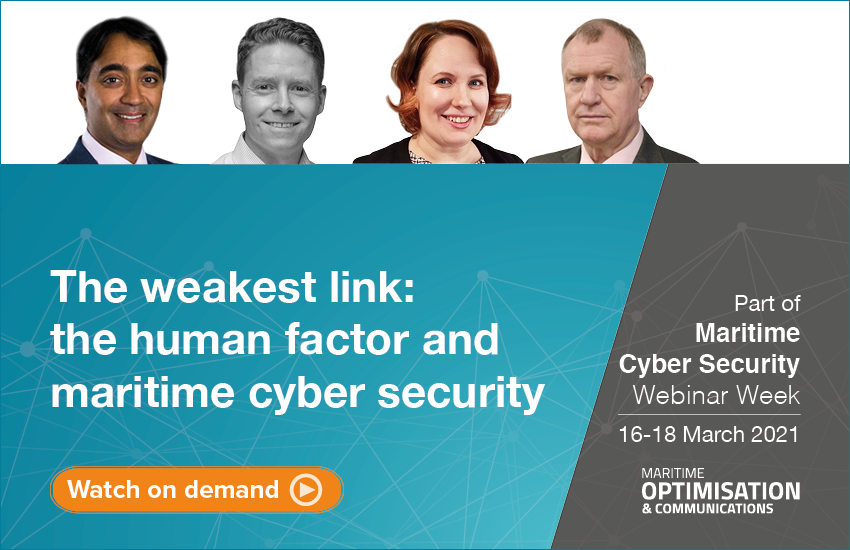 Weakest link: the human factor and maritime cyber security webinar panel
