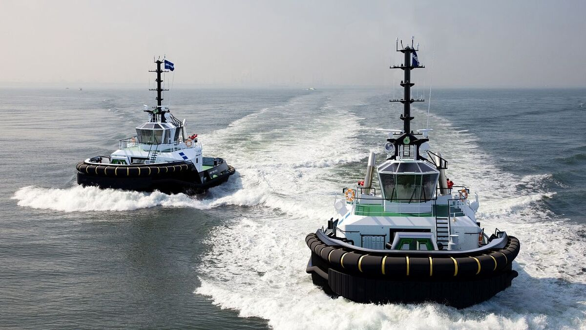 ASD 2312 design tugs could be built by Damen with hybrid propulsion (source: Damen)