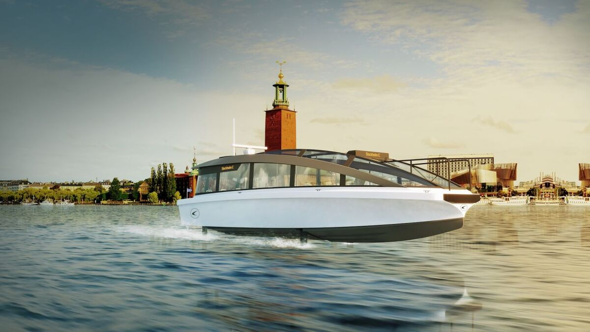The world's first foiling electric passenger ship will be launched in 2022 (source: Candela)