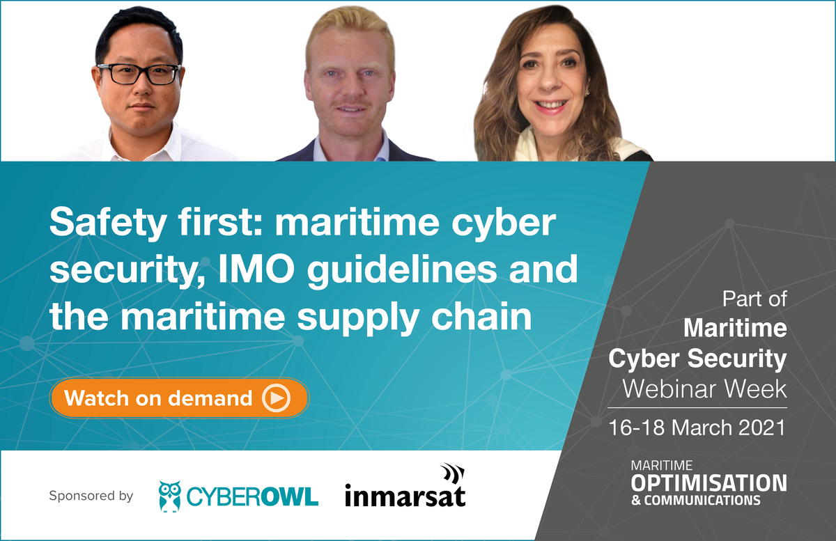 Safety first: maritime cyber security webinar panel