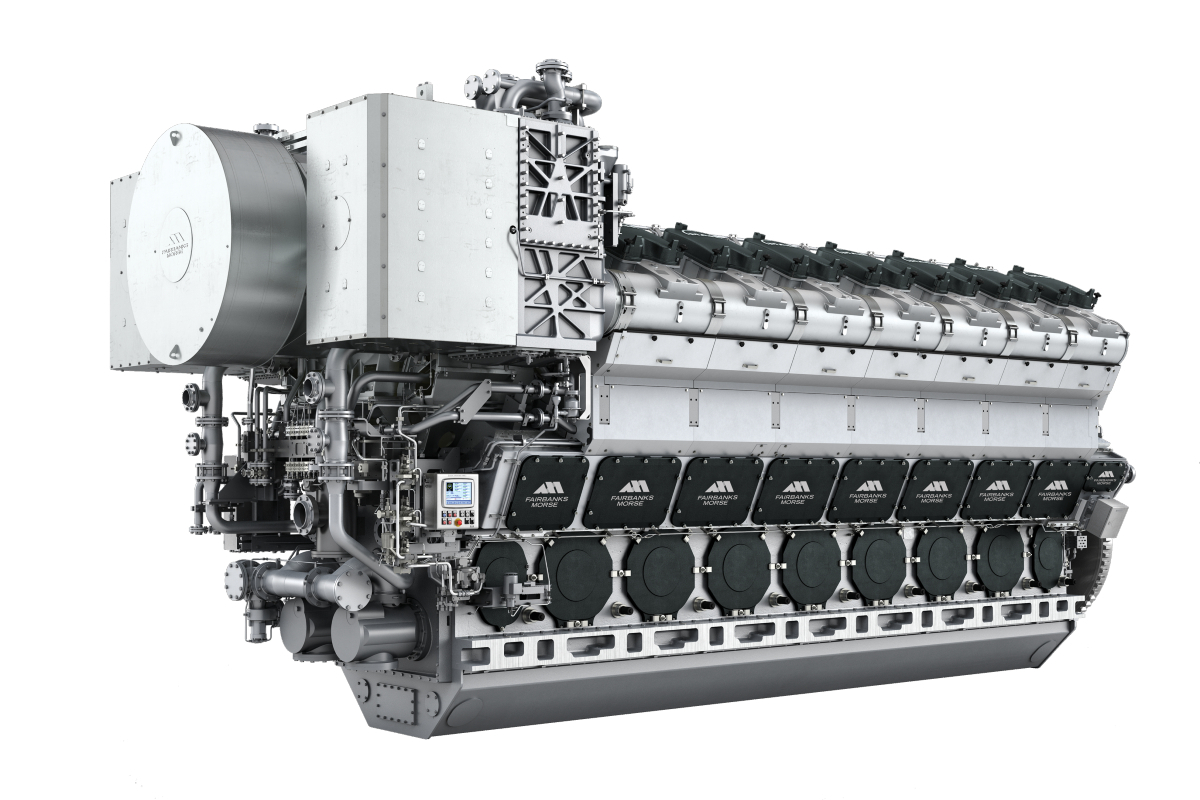 Fairbanks Morse l MAN 48 60 CR engines are used in the US Navy's Military Sealift Command Expeditionary Transfer Dock (ESD) (source: Fairbanks Morse)