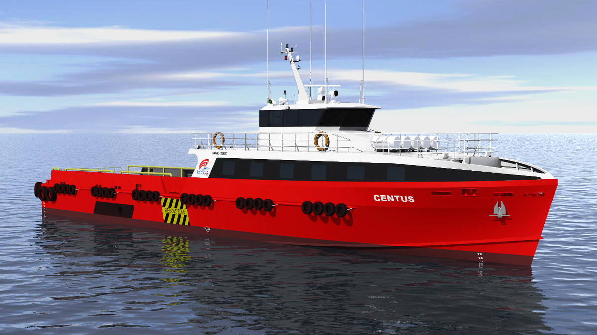 Fast crew boat designed by Strategic Marine and Southerly Designs will be built for Centus Marine (source: Strategic Marine)
