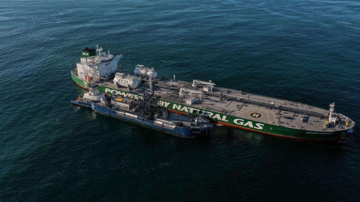Gagarin Prospect completes first ever LNG Aframax tanker fuelling in US