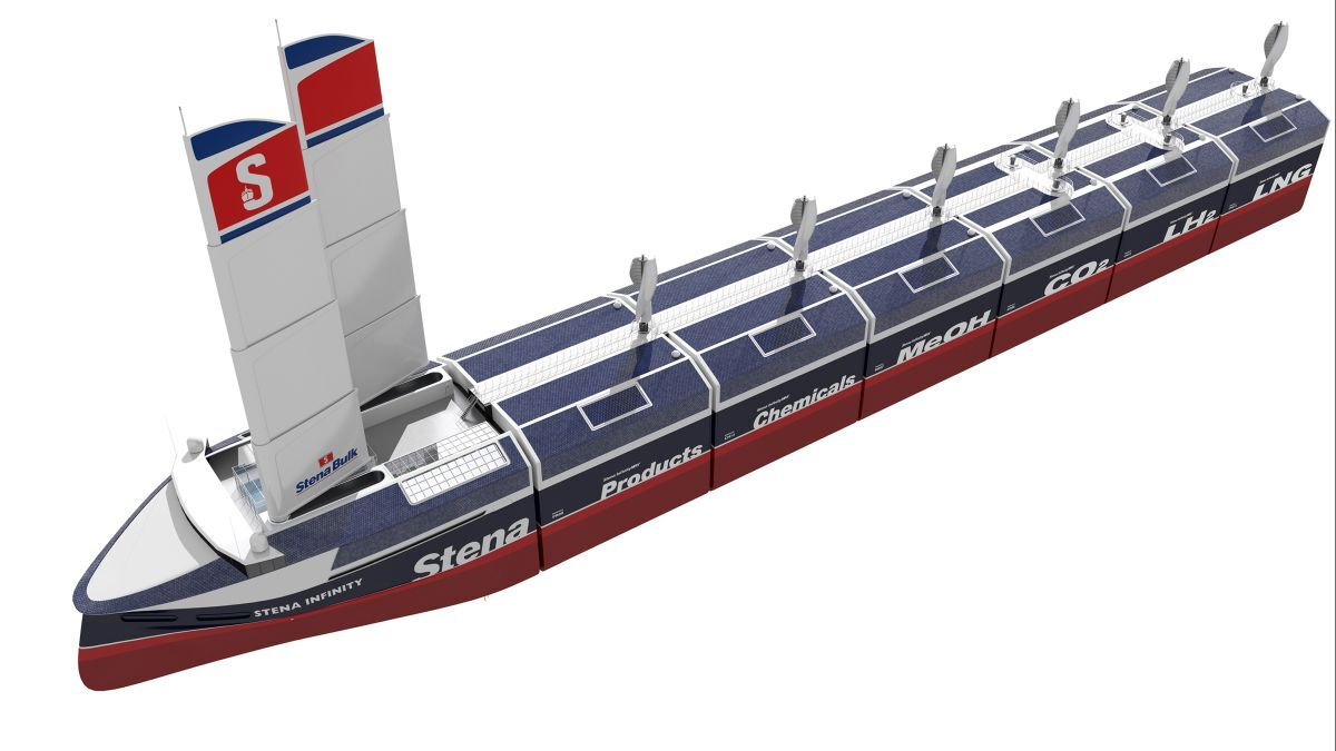 InfinityMAX: modular multi-cargo design could be as big a gamechanger as the invention of the shipping container (source: Stena)
