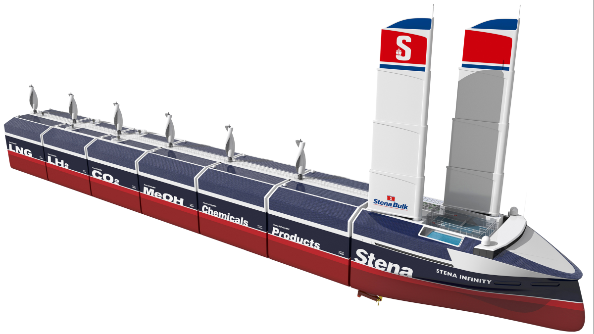 Stena Bulk is well-known for pushing the boundaries of vessel design and bringing them to the water (source: Stena)