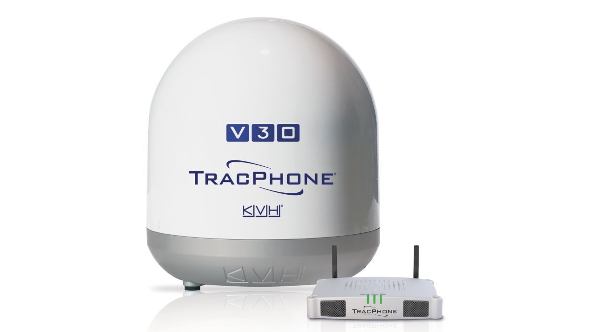 TracPhone V30 delivers data speeds of 6 Mbps on the downlink (source: KVH)