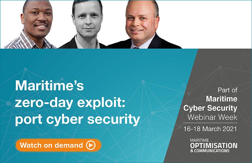 Maritime's zero-day exploit: port cyber security webinar panel
