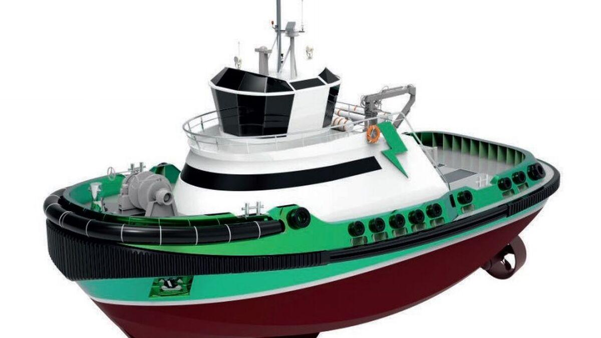 Navtek design Zeetug30 with all-electric propulsion stern drives (source: Navtek)