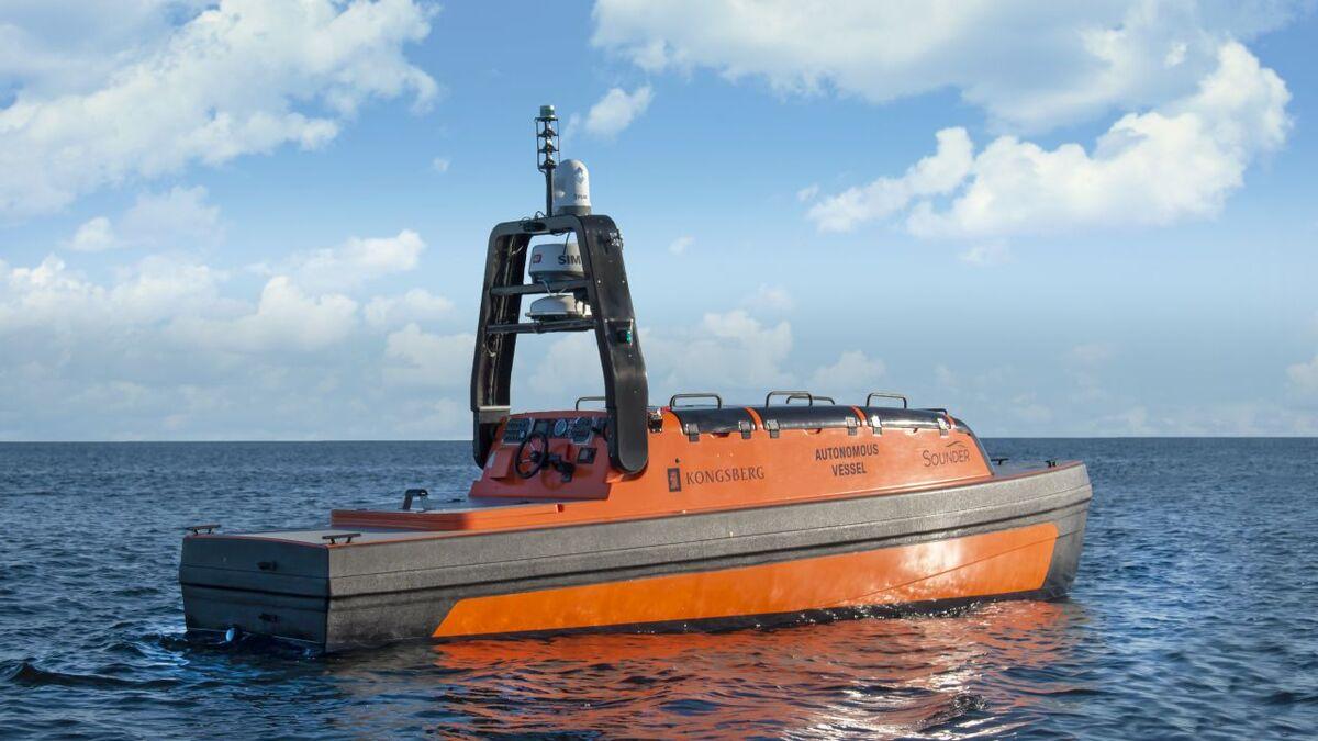 Design of Norway's Institute of Marine Research/Kongsberg USV (source: Kongsberg)