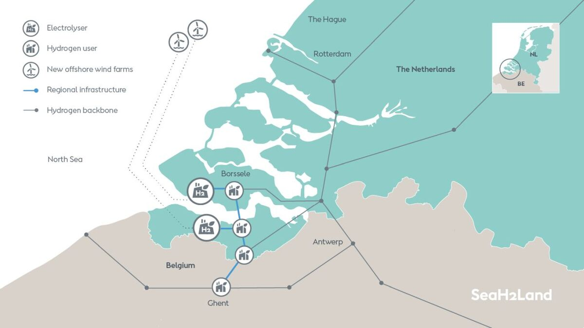 SeaH2Land combines large-scale offshore wind with electrolysis to produce green hydrogen for industrial users