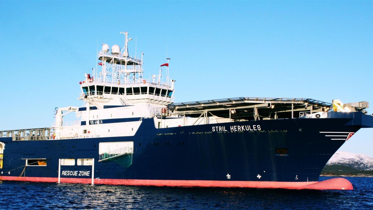 Stril Herkules is being refitted to launch and recover a new battery-operated ROV (source: Simon Møkster Shipping)