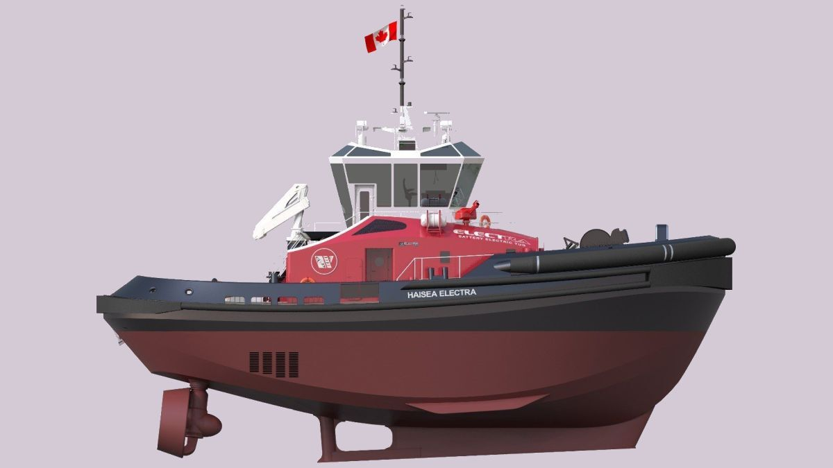 The harbour tugs will be built to an ElectRa-2800 design