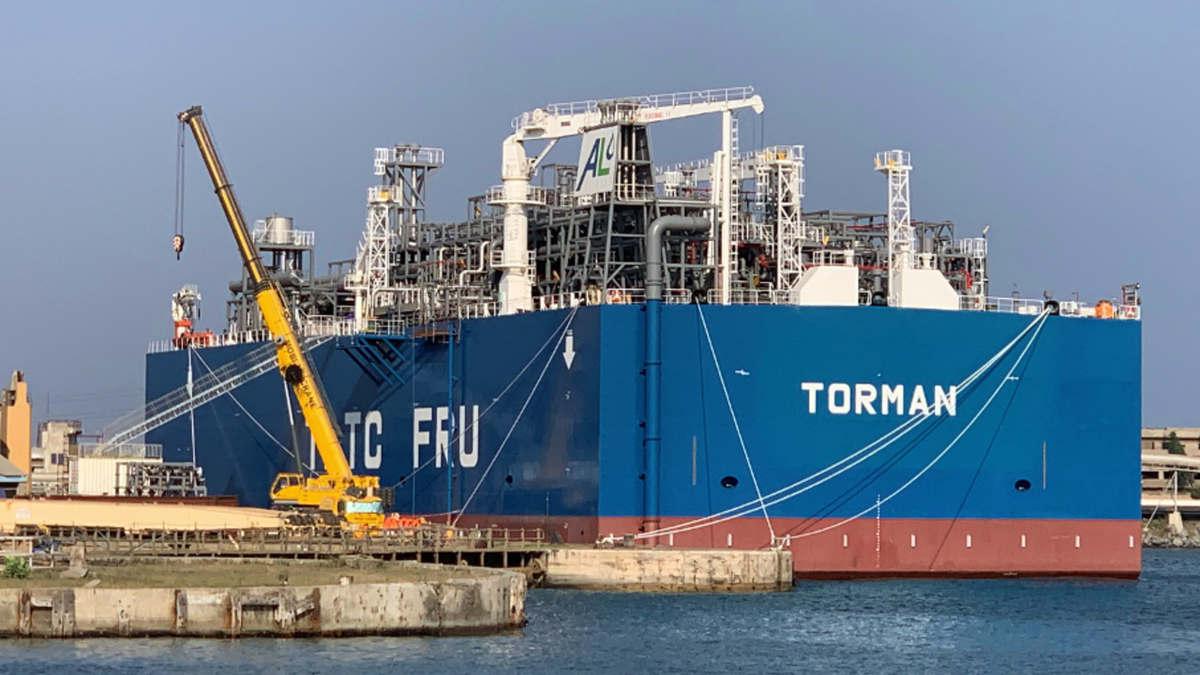 Torman floating regasification unit will be permanently moored alongside an FSU at Tema port in Ghana (source: BV)
