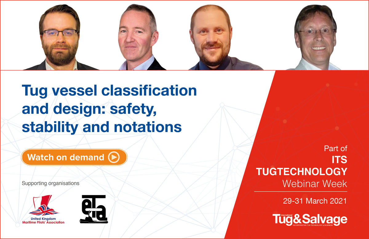 Tug classification and design safety stability and notations webinar panel